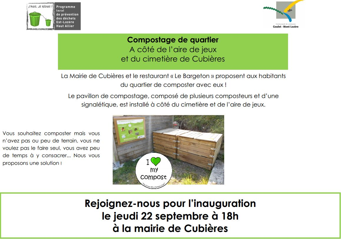 Inauguration composteur